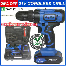 21V Cordless Electric Screwdriver Drill Handheld Recharge Battery w/Drill Bit