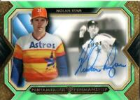 MLB Card 2019 Nolan Ryan Topps Five Star Pentamerous Penmanship Auto Green 07/10