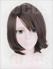 Final Fantasy X Yuna Summoner FF10-2 Anime Costume Cosplay Wig + Free Cap +Track