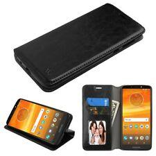 MYBAT Black MyJacket Wallet(w/ Tray)(561) for Moto E5 Suprae,Moto E5 Plus