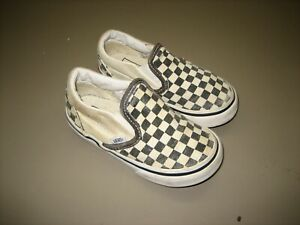 Toddler Vans Low Classic Slip On Checkered Black White Sneakers Size Toddler 7
