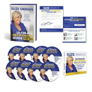 SUZE ORMAN The Ultimate Retirement Guide For 50+Hard Cover Book w audio 8 CD SET