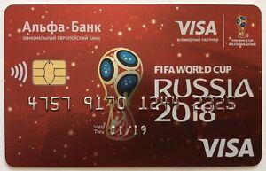 Bank Card Visa FIFA WC 2018 Russia FIFA World Cup NEW Sealed