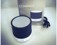 2 Pack -B iconic Compact Travel Friendly Wireless Bluetooth Speaker w/Microphone
