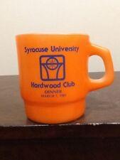 VINTAGE ACHOR HOCKING SYRACUSE UNIVERSITY HARDWOOD CLUB DINNER MILK CUP