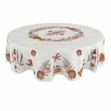 Laural Home Seafood Shack 70 Inch Round Tablecloth