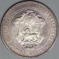 1899 German East Africa Rupie Lion Wilhelm II Colonial Silver Coin (19070703R)