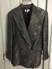 VTG Georgio Armani Collection Holiday Party Blazer dbl breast Metallic 46 12