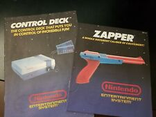 Original Nintendo NES ADVANTAGE CONTROL DECK & ZAPPER Instruction Manuals ONLY