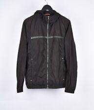 Prada Men Hooded Leather App Windbreaker Jacket Size 52