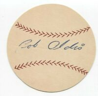 Bob Oldis Signed Paper Baseball Autographed Signature Washington Senators