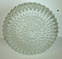"Vintage Clear Facet Cut Glass CEILING GLOBE - 7.75"" Fitter - Shipping Included!"