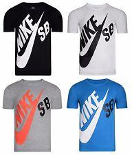 New Boys Junior Kids Nike SB Logo T-Shirt Top - Grey White Black Blue