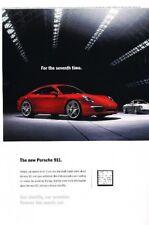 2012 Porsche 911 2-page Original Advertisement Print Art Car Ad J897