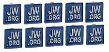 JW.ORG LAPEL PINS SQUARE BLUE TIE PINS SET OF 10