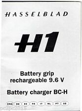 Hasselblad ORIGINAL H1 Battery Grip Rechargeable 9.6v BC-H Manual only Excellent