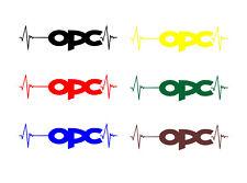 Aufkleber Sticker für Opelfan OPC Motorsport Tuning Opel Tattoo dapper decal