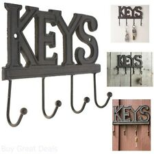 Key Holder - Keys Wall Mounted Key Hook Rustic Western Cast Iron Key Hanger