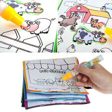Kids Magic Water Drawing Book Reusable Pen Coloring Book Vehicle Series Painting