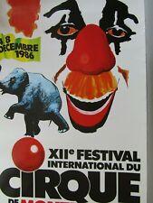 Affiche Cirque / 12ème Festival international du cirque /  MONTE-CARLO 1986