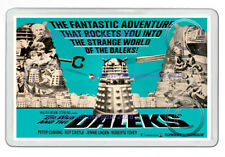 DR WHO AND THE DALEKS 1960'S US CINEMA LOBBY POSTER ART NEW JUMBO FRIDGE MAGNET