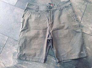 Mens Quicksilver Dark Grey Cotton Shorts W30ins