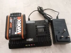 WORX battery and  Duel charger WA3551 18V 20V MAX 2.0Ah BATTERY LIFE I