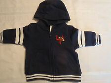 Gymboree Very Junior Varsity 3-6 Month Zip Front Hooded Long Sleeve Hoodie NWT