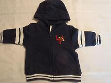 Gymboree Very Junior Varsity 3-6 Month Zip Front Hooded Long Sleeve Hoodie NWT