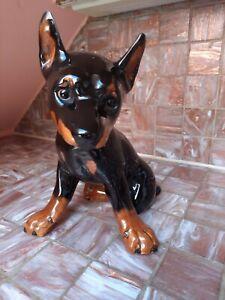 Goebelfigur Hund Dobermann