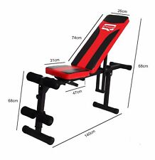 Q Sports Weight Lifting Training Bench Fly Flat Adjustable Gym Fitness Exercises