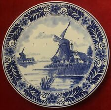 Pottery & China Delft Tile Inset On Wood Frames Pottery & Glass Two Vintage Delft Wall Plaques