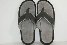 Aldo Men's Size 10 Black & Gray Flip Flops Beach Thong Sandals Slip On Shoes