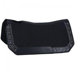 "Tough 1 Black Starlight Collection 19x19"" Mini Felt Saddle Pad w/Bling 31-118"