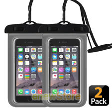 2-Pack Swimming Waterproof Underwater Dry Bag Pouch Clear Cell Phone Case Cover