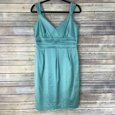 Maggie London Womens 12 Dress Mint Green Empire Waist Sateen Lined Cocktail B58