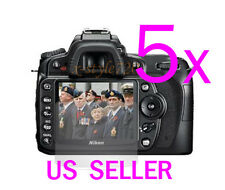 5x Clear LCD Screen Protector Guard Cover Film For Nikon DSLR D90
