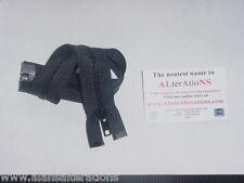 """23 /"""" # 5 Vislon ouvertes séparable zip noir C075"""