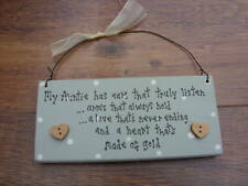 Shabby Personalised wooden chic plaque Aunty Aunt gift