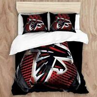 Atlanta Falcons Bedding Set 3PCS Duvet Cover Pillowcases Comforter Cover Gifts