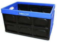 Genuine Instacrate Collapsible Crate Storage Solution 46 Litre, MADE IN USA BLUE