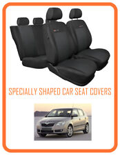 Skoda Fabia II  Tailored seat covers full set grey    (108P3)
