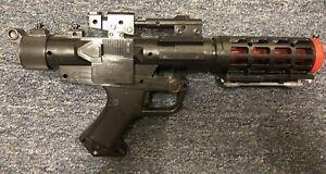 Star Wars Black Stormtrooper Blaster Gun Tested Works Great (Lucas Film, 2004)