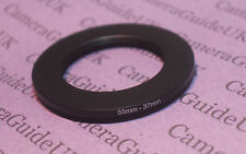 55mm to 37mm Male-Female Stepping Step Down Filter Ring Adapter 55mm-37mm UK