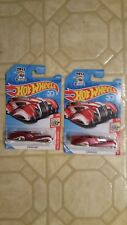 """HOT WHEELS 50 SERIES  HOLIDAY  RACERS """" RED SCREAMLINER LOT OF 2"""