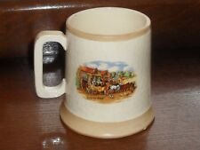 OLD BEWLEY POTTERY MUG CHARLES DICKENS DICKENS DAYS CUP