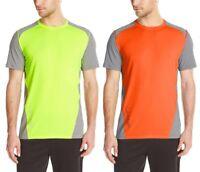 Calvin Klein Men's NEW Color Block Mesh Crew Neck Short Sleeve Tee Gym T-Shirt