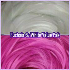 Fuchsia & White XL 4oz 2 Color Value Pack Nylon Doll Hair Reroot Vintage Barbie