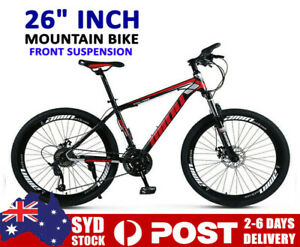 "21 speed 26""Wheels Mountain Bike MTB Bicycle Full Suspension Disc Bicycles A.U"