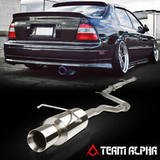 """Fits 1994-1997 Accord 2.2 H22 [4"""" BEVELED TIP MUFFLER] SS Catback Exhaust System"""